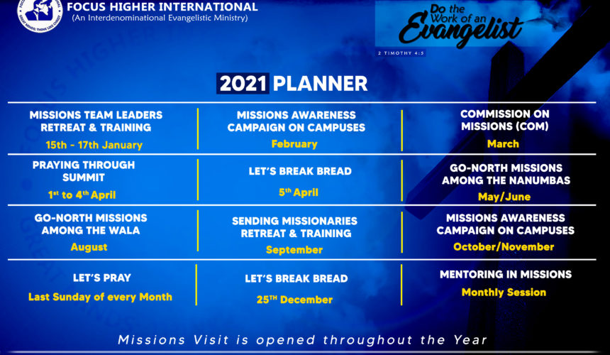 PRAYERFULLY CONSIDER MISSIONS IN YOUR 2021 PLANS